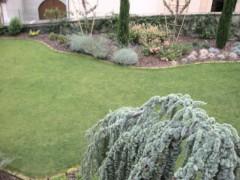 Giardino privato integrazione tra aiuole e tappeto erboso
